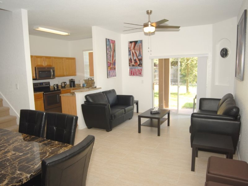 Floor Plan for 4 Bed Townhome close to Pool